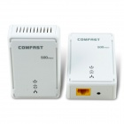 COMFAST CF-WP500M 500Mbps RJ45 Mini HomePlug AV Powerline Network Adapters US Plug - White (2 PCS)