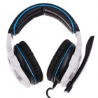 SADES SA-903 Multifunctional Stereo Headphones w/ Microphone for Computer - Black + White + Blue