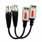 Jtron Network Cable to Transmit Video Signals Twisted Pair Video Transmitter - Black (2 PCS)