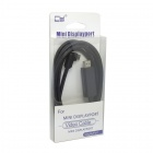 CY DP-082-LE 1080p Left Angled 90 Degree Mini DisplayPort to HDMI Cable for HDTV - Black (150cm)