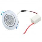 3W 240lm 3000 ~ 3200K 3-LED Warm White Light Deckenleuchte - Silver (86-265V)