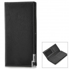 picvadee 3508C Men's Casual Leather Flip Open Leather Wallet - Black