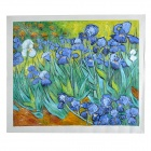 "Hand Painted Famous Oil Painting ""The Lris"" of Vincent Van Gogh - Multicolored"