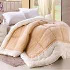 LAWEI Fine Wool Thickened Composite Winter Wool Quilt Core - Camel