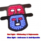 Magiclight LB-S2-RB-001 Power LED Rot und Blau Beauty Gesichtsmaske - Braun + Weiß