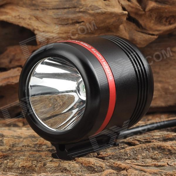 HASKY K1SR+B 250LM LED White Light Bike Light - Black + Red (4 x 18650) hasky k1sr b 250lm led white light bike light black red 4 x 18650