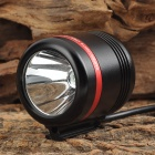 HASKY K1SR+B 250LM CREE XP-E White Light Bike Light - Black + Red (4 x 18650)