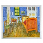 "Hand Painted Famous Oil Painting ""The Bedroom  at  Arles.c.1887""  of Vincent Van Gogh - Multicolored"