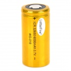 LetterFire WG-018 Stainless Steel Rechargeable 3.7V 6000mAh 32650 Li-ion Battery - Golden