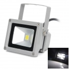 High Quality Waterproof 10W 720lm 6500K SMD 3030 LED White Light Floodlight - (AC 100~240V)