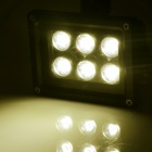 HML 6W 600lm 3000K 6-SMD 3030 LED Warm White Light Body Infrared Induction Floodlight - (100~240V)
