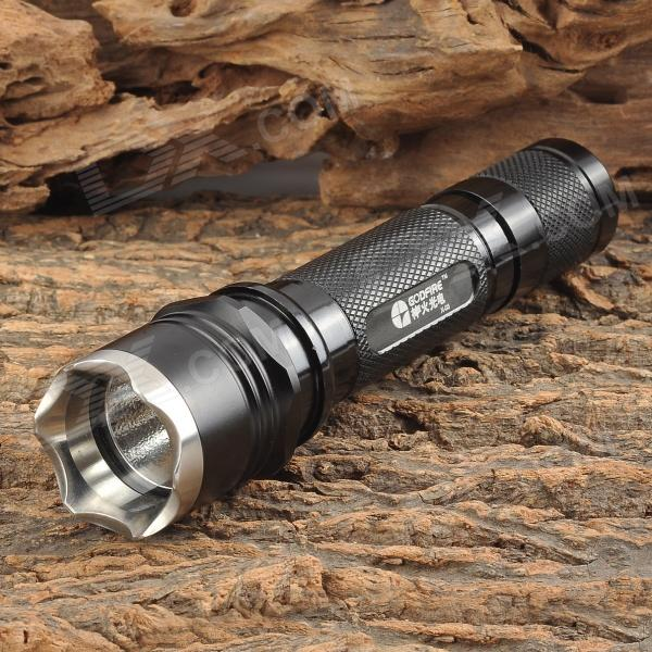 GODFIRE X-03 CREE XR-E Q5 150lm 2-Mode White Flashlight - Black (2 x CR123A / 16340)