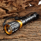 UltraFire MT-5 CREE XP-E Q5 100lm 3-Mode White Zooming Flashlight w/ USB Port - Black (1 x 18650)