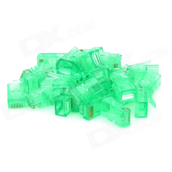 PC RJ45 Conectores de red - Verdes (30 PCS)