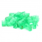 PC RJ45 Network Connectors - Green (30 PCS)