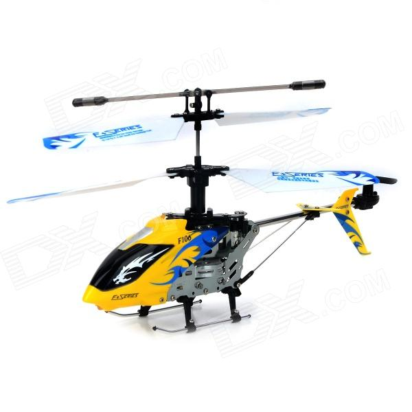 DFD F106 USB Rechargeable 4.5-CH R/C Helicopter w/ Gyroscope - Yellow + Silver rechargeable 4 ch r c helicopter w gyroscope yellow black ir remote 6 x aa