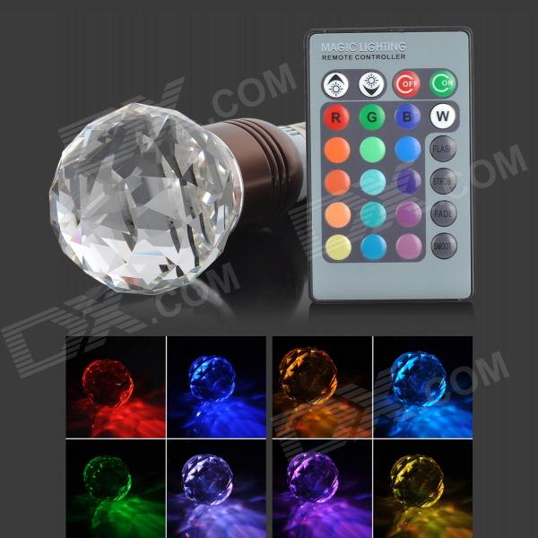 ChuanZeZhaoMing E27 3W 30lm RGB Light Crystal Bulb w/ Remote Control - (AC 100~240V) t 2016 new crystal light with led chip modern fashion luxury lamps for bar coffee shop the corridor home 1or3 light freeshipping