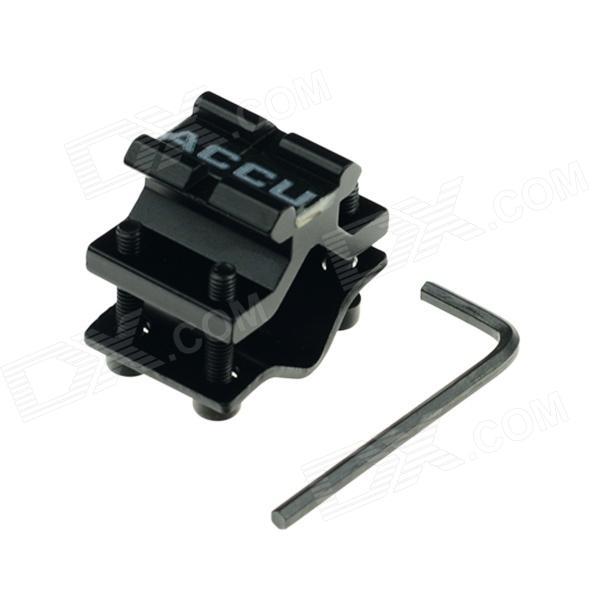 ACCU Aluminum Alloy Gun Mount for 20mm Rail - Black stepper motor t type wire rod linear guide rail electric slide rail automatic rail control module table stock
