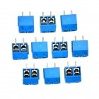 PCB 2pin Screw Terminals - Deep Blue (10 PCS)