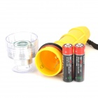 FITECH F1 LED 80lm 1-Mode Warm White Diving Flashlight - Yellow (2 x AA)
