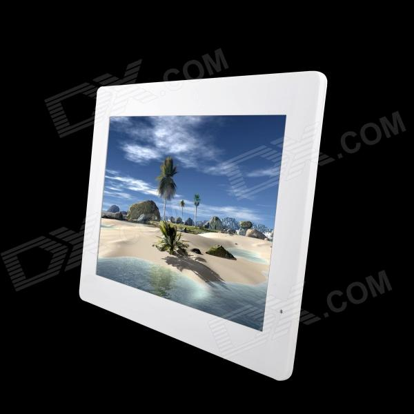 "13"" LED Full blog Desktop Digital Photo Frame w/ SD / 3.5mm / USB - White (US Plugs)"