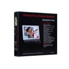 "13"" LED de escritorio completo de escritorio Digital Photo Frame w / SD / 3.5mm / USB - Blanco (EE.UU. enchufes)"