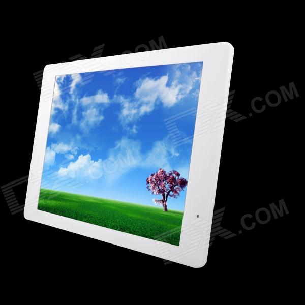 14 LED Full blog Slim Desktop Digital Photo Frame w/ SD / 3.5mm / USB - White (US Plug)