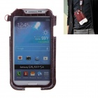 Newtop Soft-Touch Protective PU Leather Case w/ Strap for Samsung Galaxy S4 i9500 - Rufous