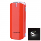 "BP ""5600mAh"" Mobile Power Bank-Quelle w / Stroboskop LED Light for / Iphone / Samsung / HTC - Rot"