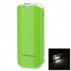 "BP ""5600mAh"" Mobile Power Bank-Quelle w / Stroboskop LED Light for / Iphone / Samsung / HTC - Grün"