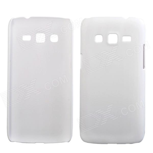 Fashionable Super Thin Protective Glaze PC Back Case for Samsung Galaxy Express 2 LTE G3815 - White