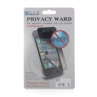 Newtop Privacy Protective Plastic Clear Screen Guard for HTC ONE X - Black