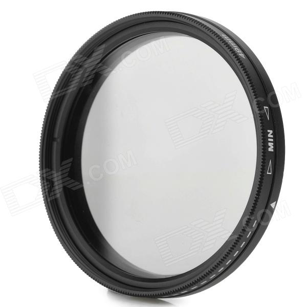 Commlite ND2-400 49mm Variable Fader Filter for Digital Camera - Black + Transparent f14506 zomei ultra slim hd 18 layer super multi coated glass density neutral gray nd1000 lens filter 82mm for digital camera fs