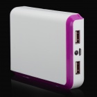 BP 15000mAh Dual-USB Mobile Power Source Bank for Iphone 5S / Samsung / HTC - White + Purple