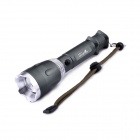 UltraFire KX-005 CREE XM-L U2 5-Mode 600LM Rotational Zooming White Flashlight w/ Strap - Army Green
