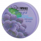 Nail Polish Remover Wet Wipes - Purple + White (Grape Scent / 32 PCS)