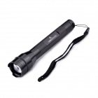 LightsCastle Cree XP-E Q4 3-Mode 180LM Zooming Flashlight w/ Strap - Black (2 x AA)