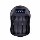 TrustFire TR-009 Multifuntional 4-Groove AC Power Charger Adapter w/ USB -Black (US Plug / 100~240V)