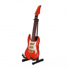 DEDO MG-328 Mini Music Instrument Wood Electric Guitar Model - Red