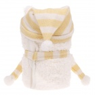 Cute Cartoon Style Ultra-Soft Plush Baby Blanket - Beige