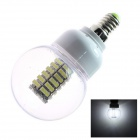 E14 6W 220lm 128-LED Cold White Energy Saving Light Bulb (220~240V)