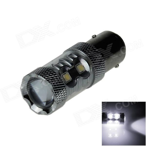 1157 / BAY15D 60W 600lm 12-LED White Car Brake / Backup / Steering / Tail Light - (12~24V)