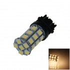 3157 / 3156 6W 300lm 27 x SMD 5050 LED Warm White Car Steering / Brake / Backup / Tail Lamp - (12V)