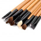 Professional Cosmetic Makeup Brushes Set - Black + Multicolored (24 PCS)