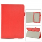 Protective PU Leather Case w/ Auto Sleep for Amazon Kindle Fire HDX 8.9 - Red