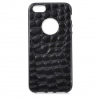 S-What Crocodile Grain Style Protective TPU + PC Back Case for IPHONE 5 / 5S - Black