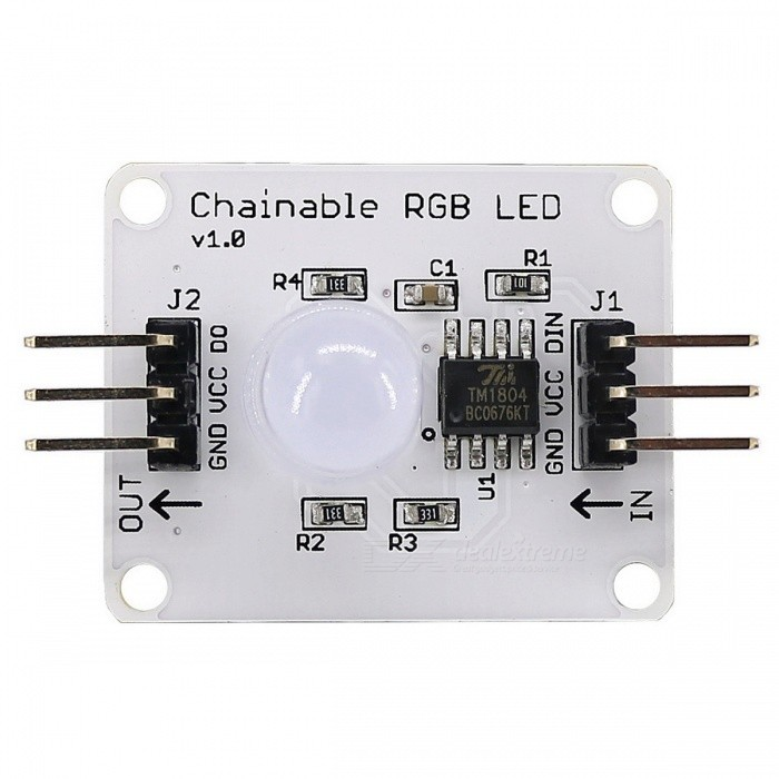 Produino Electronic DIY Full Color RGB Highlighted Mist LED Module for Arduino - White