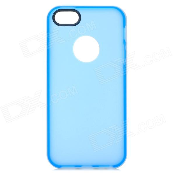 где купить S-What Protective Matte TPU + PC Case for IPHONE 5 / 5S - White + Translucent Blue дешево