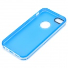 S-What Protective Matte TPU + PC Case for IPHONE 5 / 5S - White + Translucent Blue