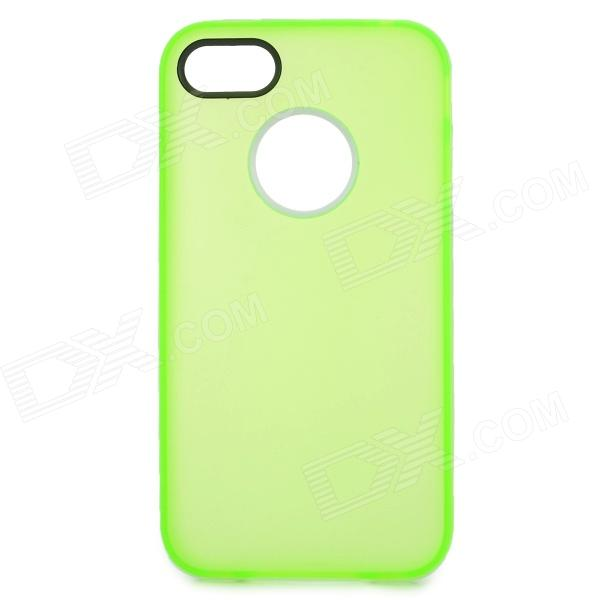 S-What Matte Protective TPU + PC Back Case for IPHONE 4 / 4S - Transparent Green + White spidercase rugged arc curved tpu pc mobile casing for iphone 7 4 7 inch purple